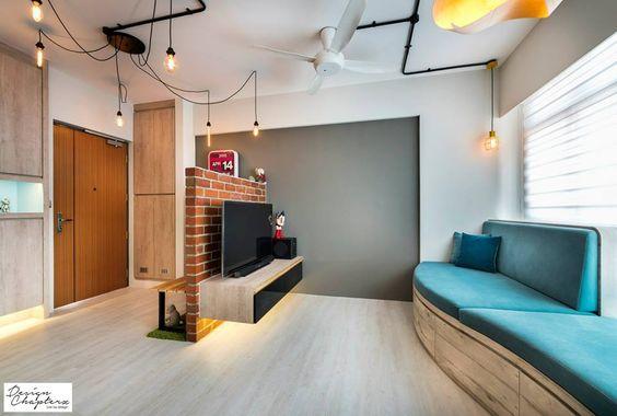 HDB BTO 3-Room Scandustrial Concept - Interior Design Singapore