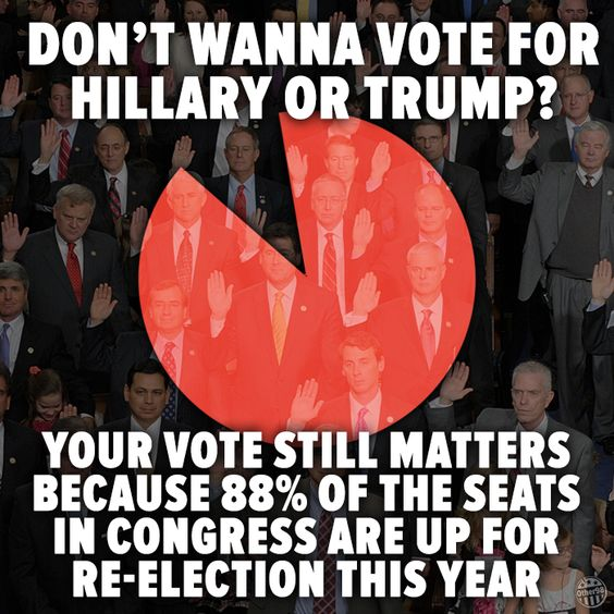 Trump & Clinton are NOT the only choices! VOTE! #Dump Trump