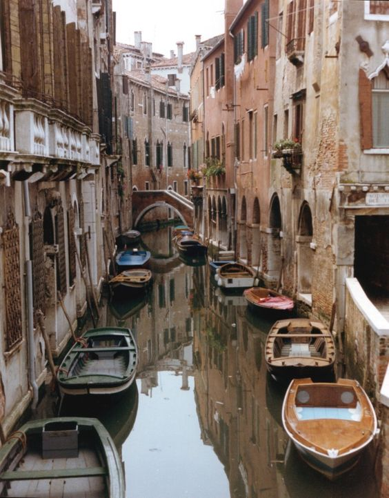 Hidden canals in Venice, Italy