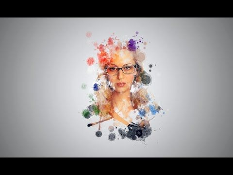 Photoshop Cc Tutorial Water Color Portrait Brush Youtube