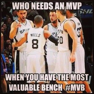 Oh, and their bench is ridiculously good. | 24 Reasons You Should Be Cheering For The San Antonio Spurs This Playoff Season