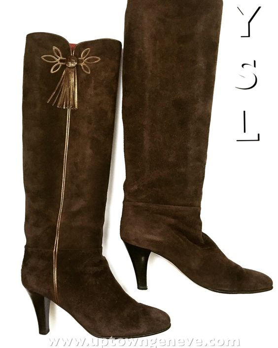 YSL suede boots p38