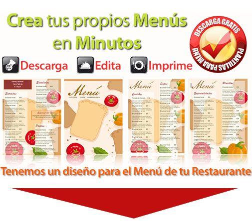 Descargas menus de restaurantes dise o y planeaci n - Disenos para restaurantes ...