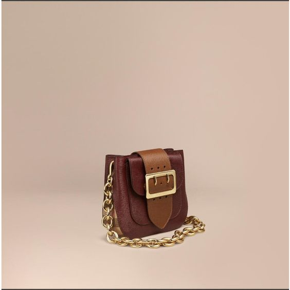 Burberry The Buckle Bag -square In Leather And House Check (€1.405) ❤ liked on Polyvore featuring bags, handbags, shoulder bags, crossbody purse, cross-body handbag, leather cross body purse, burberry handbags and leather crossbody handbags