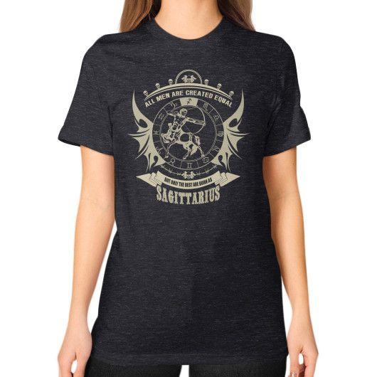 Sagittarius man Unisex T-Shirt (on woman)