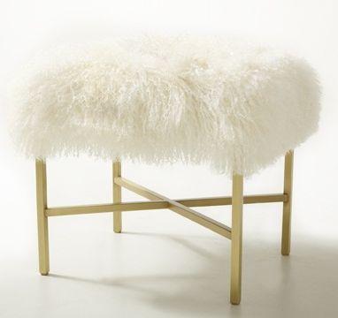 Mongolian Wool Bench