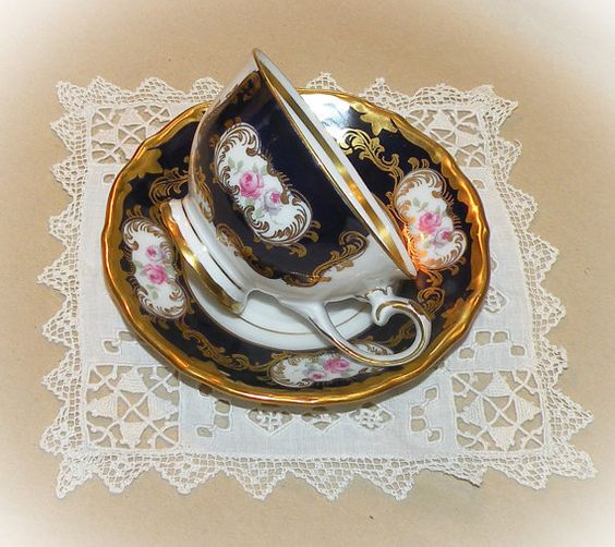 Demitasse Cup Saucer Set Reichenbach Porcelain Fine China Espresso Tea Cup  Saucer Germany