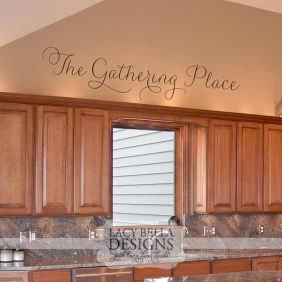 The gathering place wall art decal vinyl lettering for Home decor places