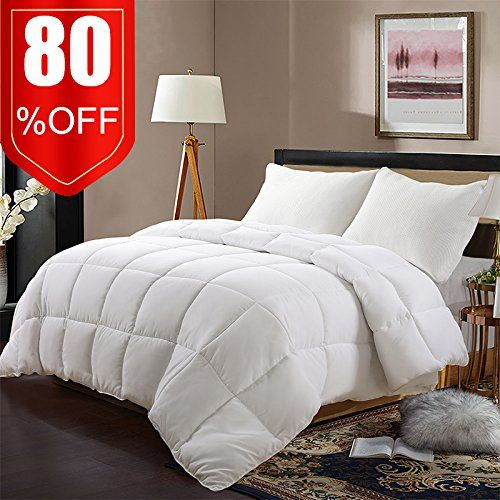 Edilly Ultra Soft White Down Alternative Quilted Comforter Queen Size Year Round Duvet Insert With 4 Corner Comforter Duvet Cover Twin Size Bedding Comforters