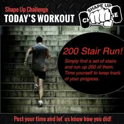 Stair challenge