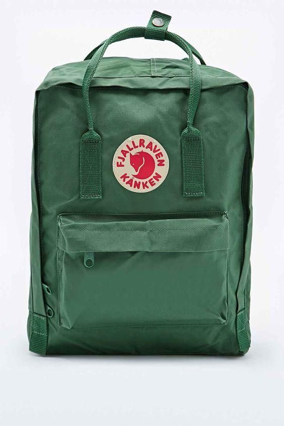 fjallraven kanken classic backpack in salvia green