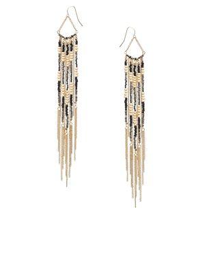 ASOS Seedbead Chain Tassel Earrings