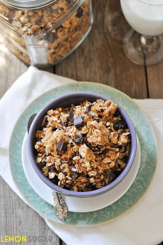 Cherry Chocolate Coconut Granola