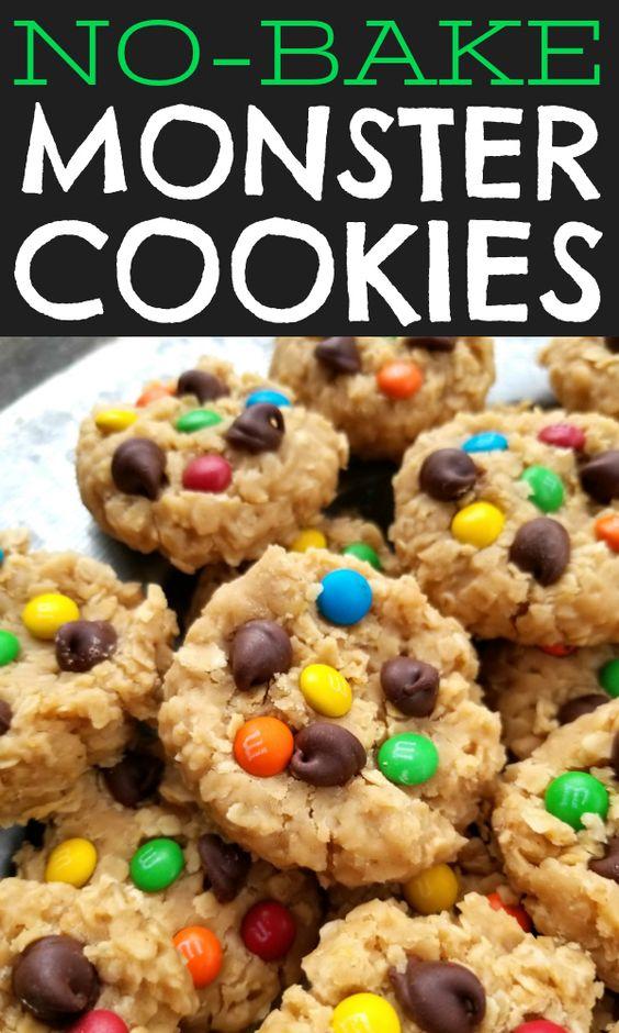 No-Bake Monster Cookies