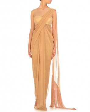 COPPER LAME SHEER KURTA $1,089
