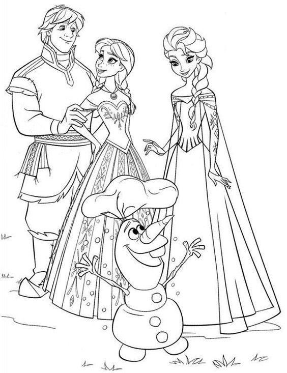 Elsa Frozen Ausmalbilder