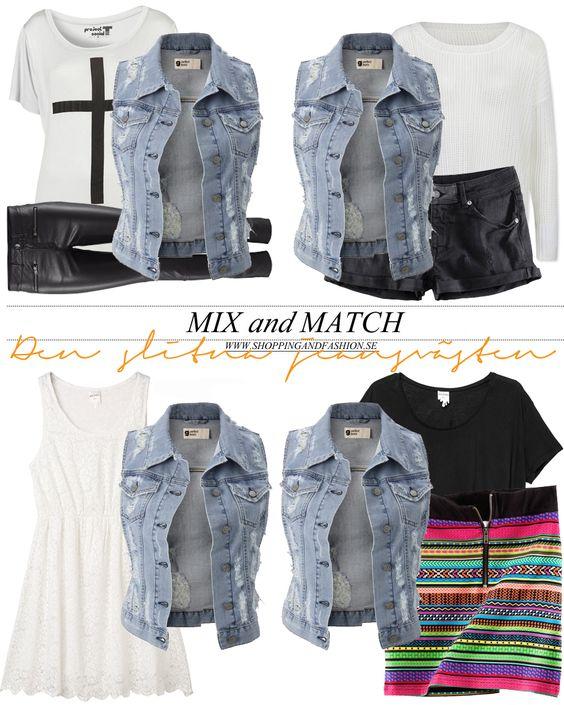 Mix and Match Clothes   Shopping & Fashion » Mix and match – Den slitna jeansvästen -