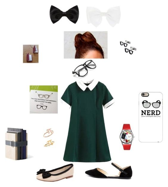 """""""Nerds have fashion TOO!!"""" by queennakayla08 ❤ liked on Polyvore featuring Human Premium, Wild Diva, New Look, Cufflinks, Inc., Whimsical Watches, Casetify and Menu"""