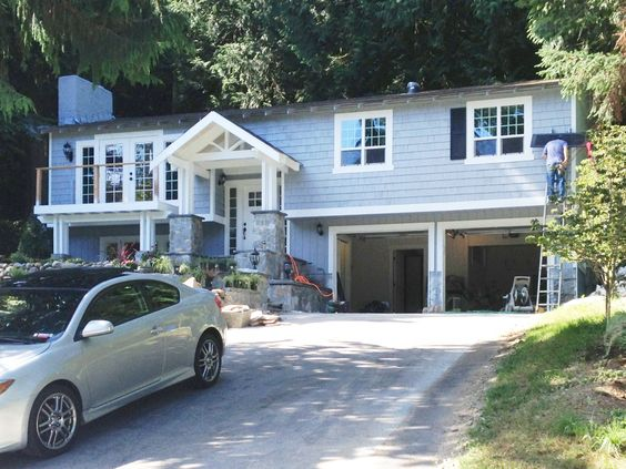 Split Level House Being Transformed Into A Craftsman Style