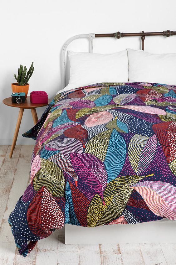 dot leaves duvet cover urbanoutfitters crafty lady pinterest twin xl urban outfitters. Black Bedroom Furniture Sets. Home Design Ideas