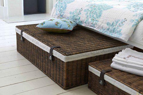 Amazon De Unterbettkommode Rattan Gefuttert Under Bed Storage Boxes Under Bed Storage Under Bed Storage Bins