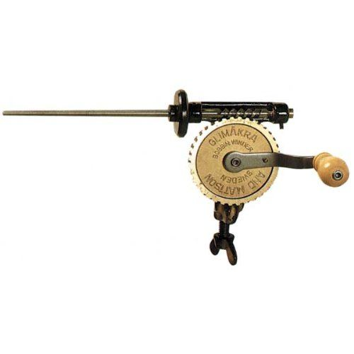 http://artsandcraftsideas.info/glimakra-swedish-bobbin-winder-ii-quills/ - Metal hand bobbin winder with built-in clamp; runs smoothly and fast. Top quality. Has a thinner shaft to handle commercial...
