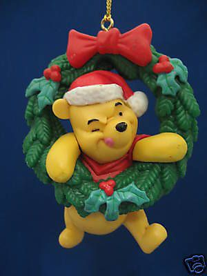 winnie the pooh wsanta hat tree christmas ornament - Winnie The Pooh Christmas Decorations