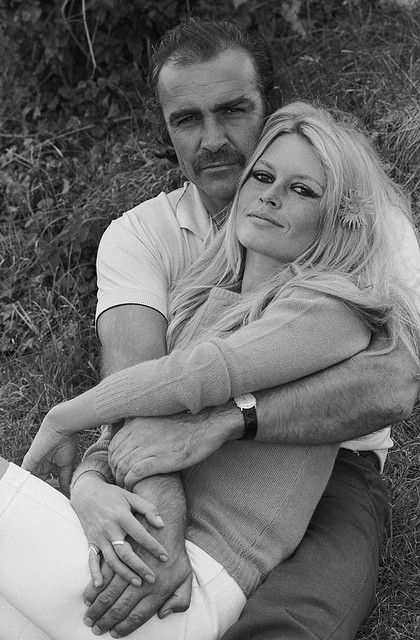Sean Connery & Brigitte Bardot, 1970s -- who'd a thunk?: