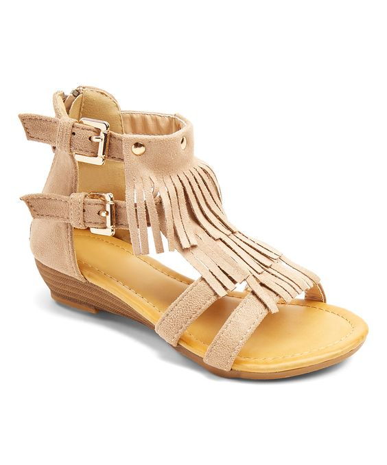 Look what I found on #zulily! PINKY FOOTWEAR Khaki Studded Sandal by PINKY FOOTWEAR #zulilyfinds