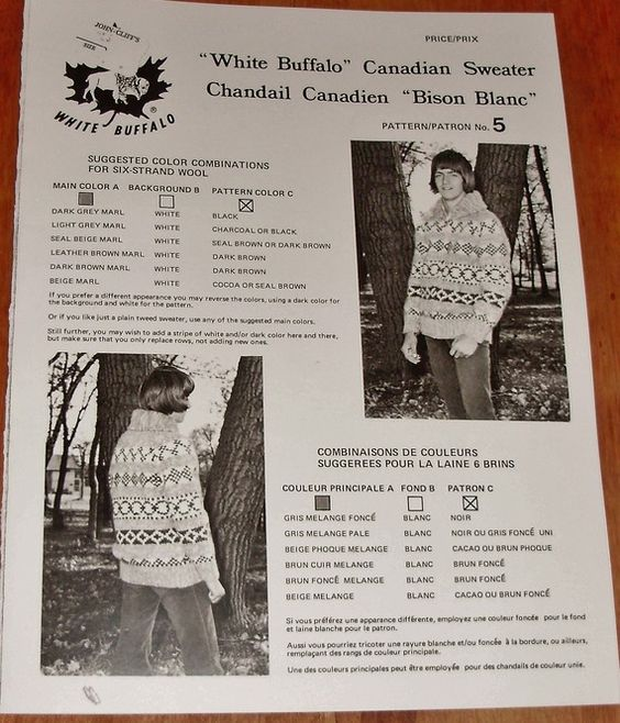 White Buffalo Canadian Sweater His or Hers Cardigan by Mostable, $7.00