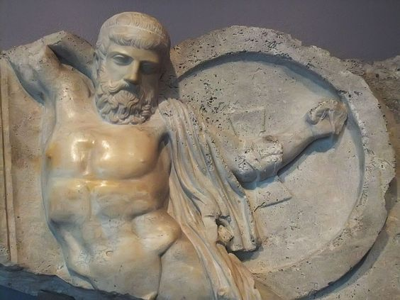Relief of a Fallen Warrior, Roman, 2nd century AD, Marble. Currently located at the Art Institute of Chicago.
