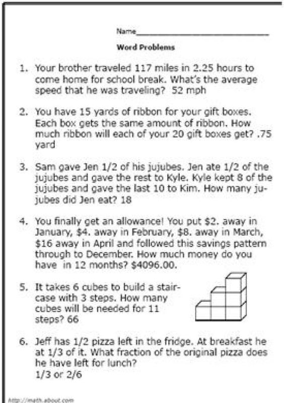 Algebra word problems 9th grade