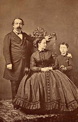 Napoleon III, Empress Eugenie and the Prince Imperial c.1865