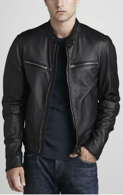 Mens black leather jackets on sale – Modern fashion jacket photo blog