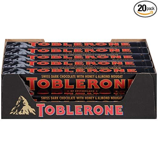 Toblerone Chocolate Bar Dark 352 Ounce Pack Of 20