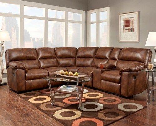 Wyoming Saddle 1450 Reclining Sectional Sofa Reclining Sectional Sectional Sofa Couch Leather Reclining Sectional