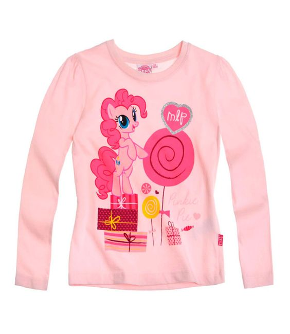 T-shirt enfant My little Poney rose Fille Officiel manches longues par UnCadeauUnSourire.com
