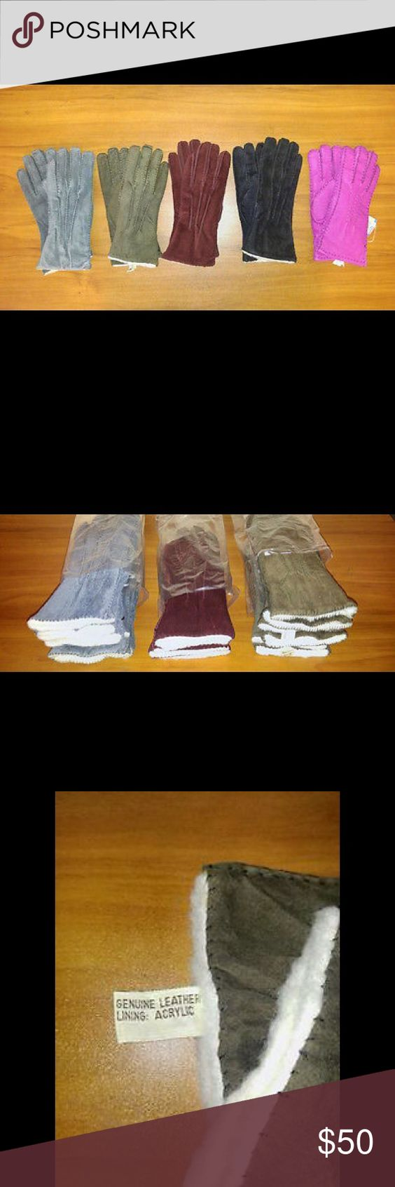 Ladies leather gloves extra small - Lot Of Dozen 12 Ladies Leather Gloves Brand New Ladies Suede Leather Gloves