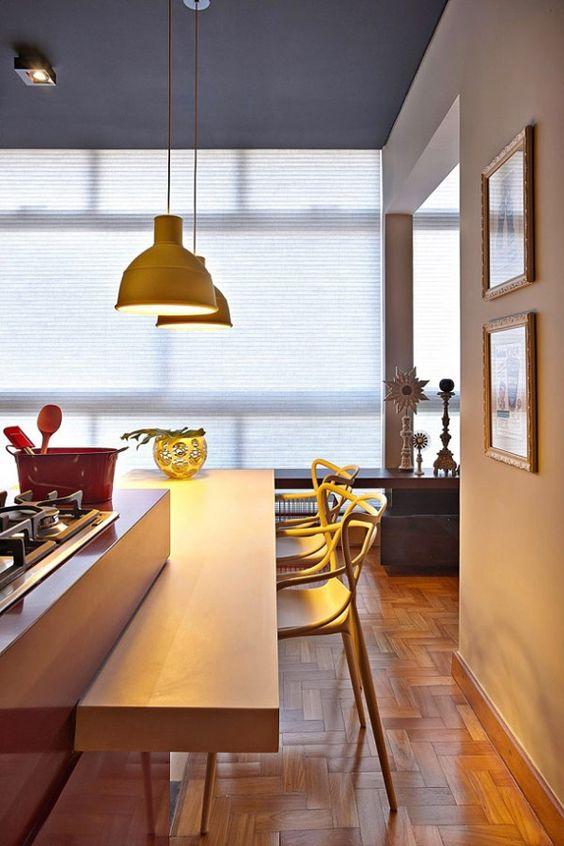 Loft - cozinha integrada ( Projeto: Gislene Lopes )