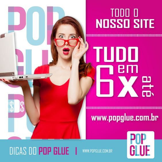Tudo no site em até 6x sem juros! Repita: Tudo no site em até 6x sem juros! #SemJuros #PopGlue  www.popglue.com.br   #SejaPop #Pop #Decor #Decoracao #Sucesso #Compras #LojaVirtual #FormadePagamento #Ecommerce