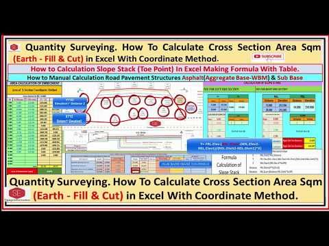 Quantity Surveying How To Calculate Cross Section Area Slope Stack To Surveying Surveying Engineering Road Pavement