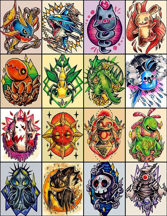 Pokemon Tattoo Designs On Behance  Tattoos Pinterest