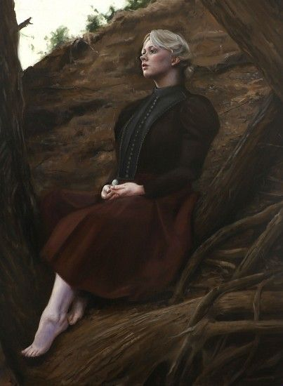 Sara Scribner, She Found Comfort in His Roots and Limbs 2015, Oil on Panel