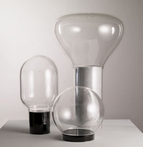 Les Bulles (Bubbles) - Suspended glass balls weighted with marble ballast, this individual case will form a precious and transparent cocoon for personal objects. It can also be changed rapidly into an original and very elegant vase.