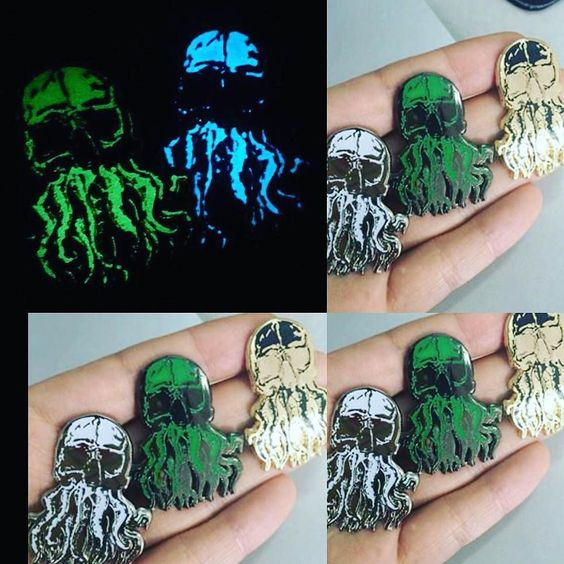 #Repost @grimmandgrinz  Glow in the dark and murder Cthulhu pins  Grimmandgrinz.etsy.com --------------------------- #pin #pins #hatpins #pinsforsale #enamelpins #pingamestrong #pinning #hatpinsforsale #pinnation #grimmandgrinz #cthulhu #cthulu #mythos #glowinthedark #monster    (Posted by https://bbllowwnn.com/) Tap the photo for purchase info.  Follow @bbllowwnn on Instagram for great pins patches and more!