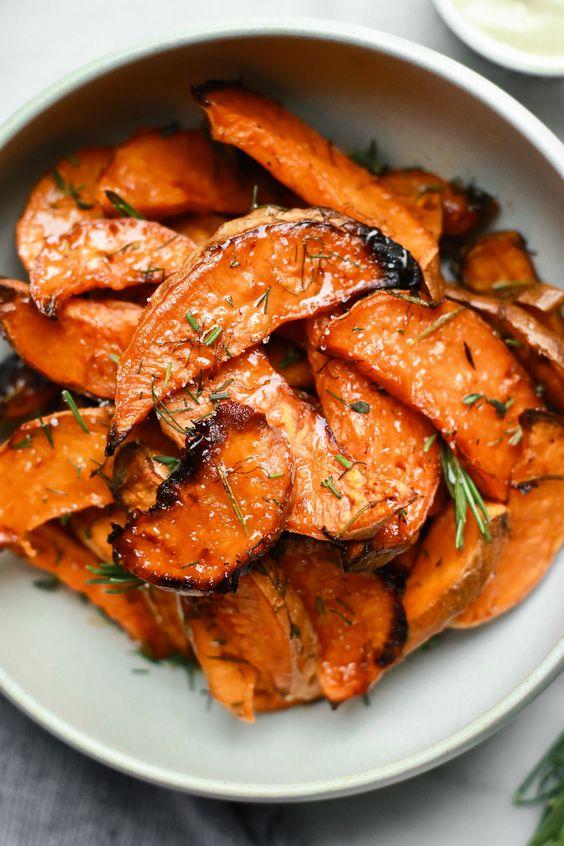 Honey-Roasted Sweet Potato Wedges