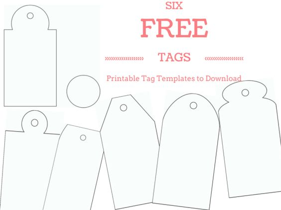 personalised word art template - make your own custom gift tags with these free printable
