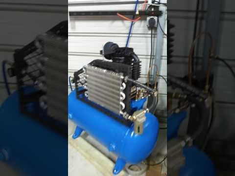 Homemade Air Compressor With Aftercooler Youtube Air