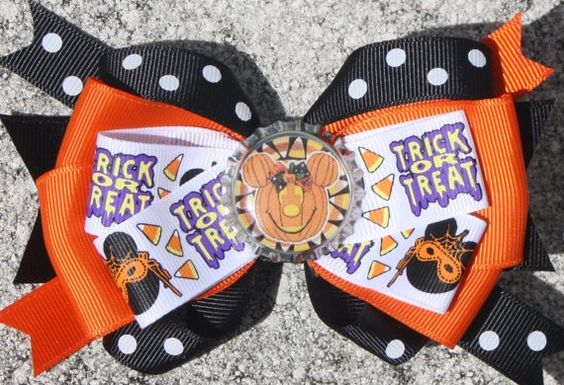 Halloween Halloween Bow Minnie Halloween Not So Scary by bowsforme, $8.00