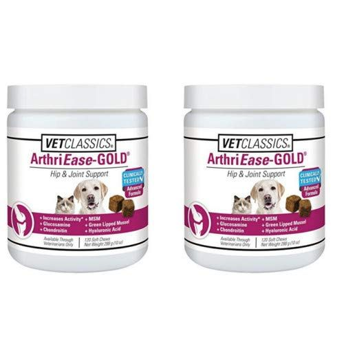2 Pack Vet Classics Arthriease Gold Soft Chews 240 Chews Total Vets Cat Health Canned Cat Food